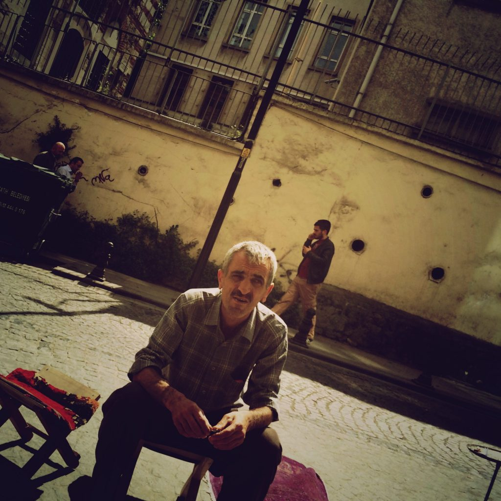 Man on street - Istanbul, Turkey 2014