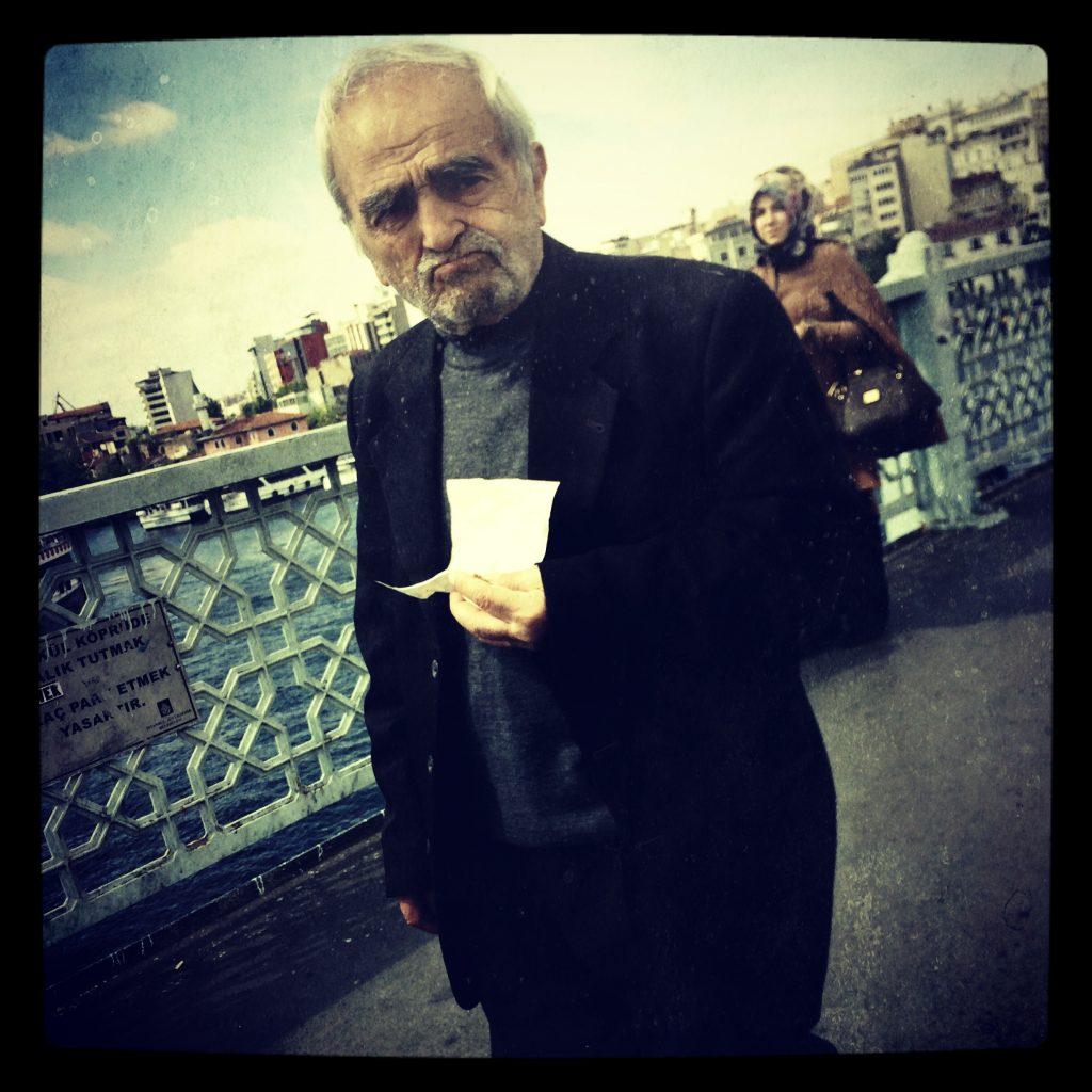 Man on Bridge - Istanbul, Turkey